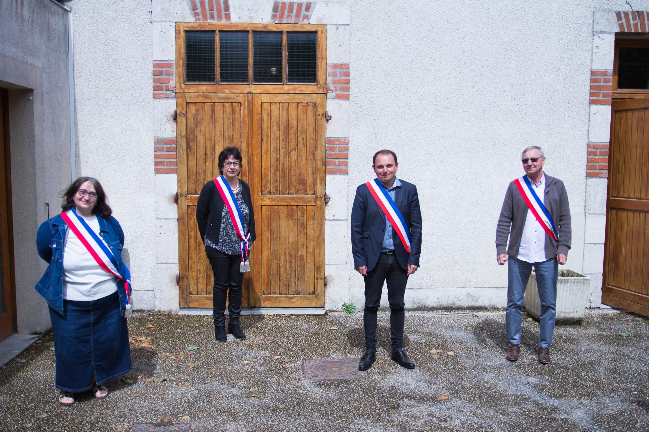 Le maire et les adjoints