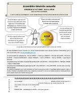 AG 2020 – le 2 octobre