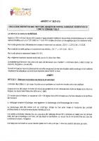 Arrêté 2021-16 Obligation d'entretien des trottoirs