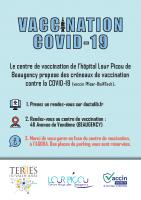 Affiche Centre de vaccination – stationnement