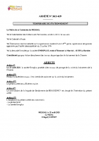 N° 29 ARRETE TEMPORAIRE DE CIRCULATION CLOSERIE (1)